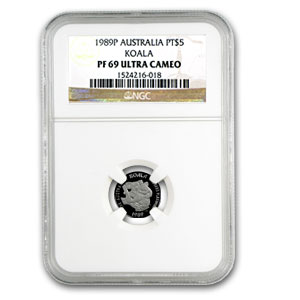 1989 Australia 1/20 oz Proof Platinum Koala PF-69 NGC