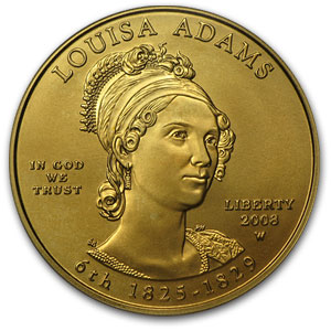 2008-W 1/2 oz Gold Louisa Adams MS-70 PCGS (First Strike)