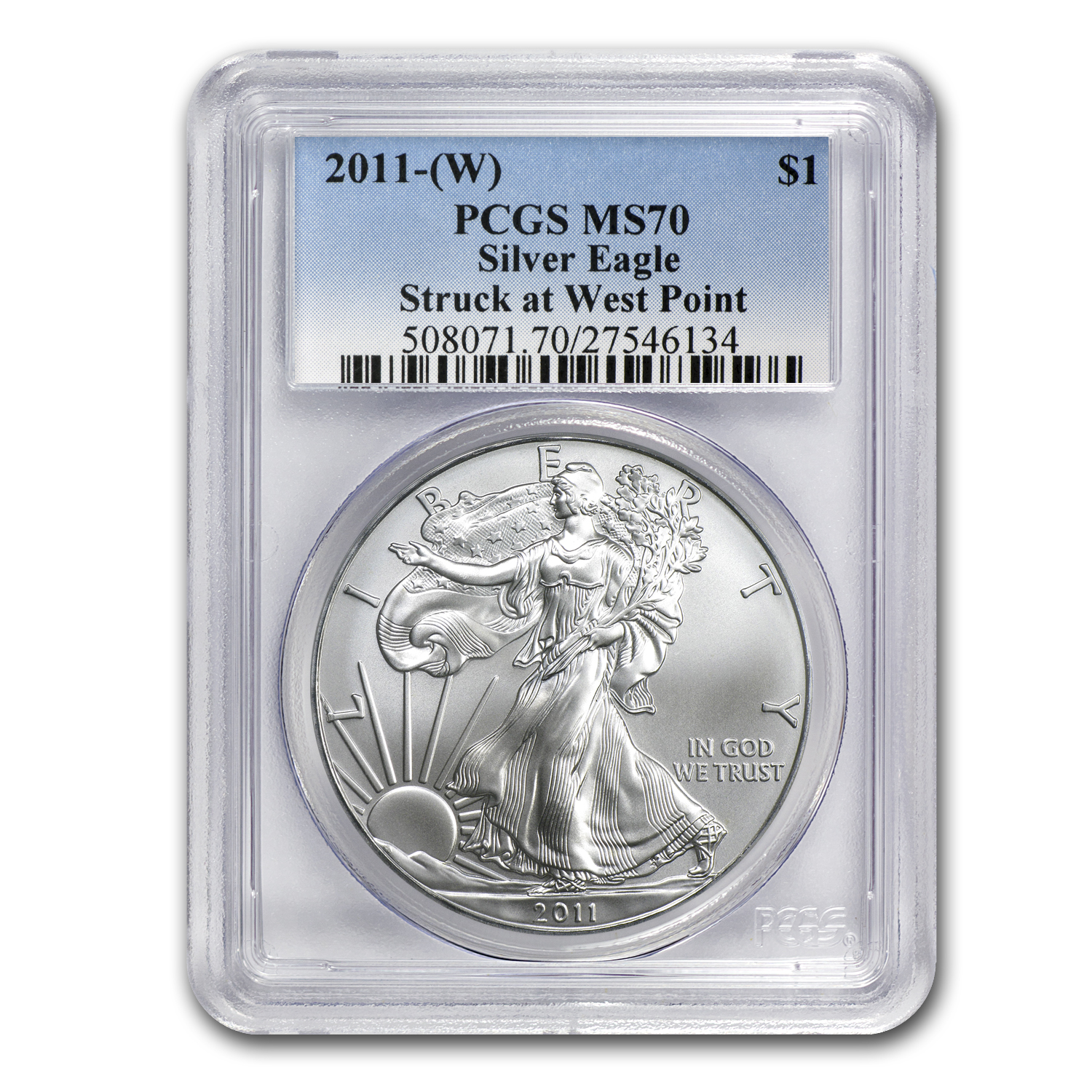 2011 (W) Silver Eagle MS-70 PCGS (West Point Label)