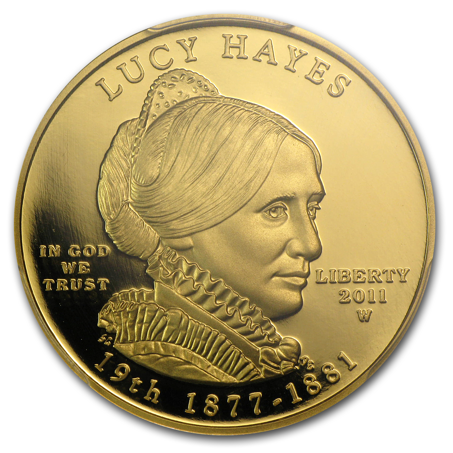 2011-W 1/2 oz Proof Gold Lucy Hayes PR-70 DCAM PCGS