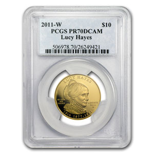 2011-W 1/2 oz Proof Gold Lucy Hayes PR-70 PCGS