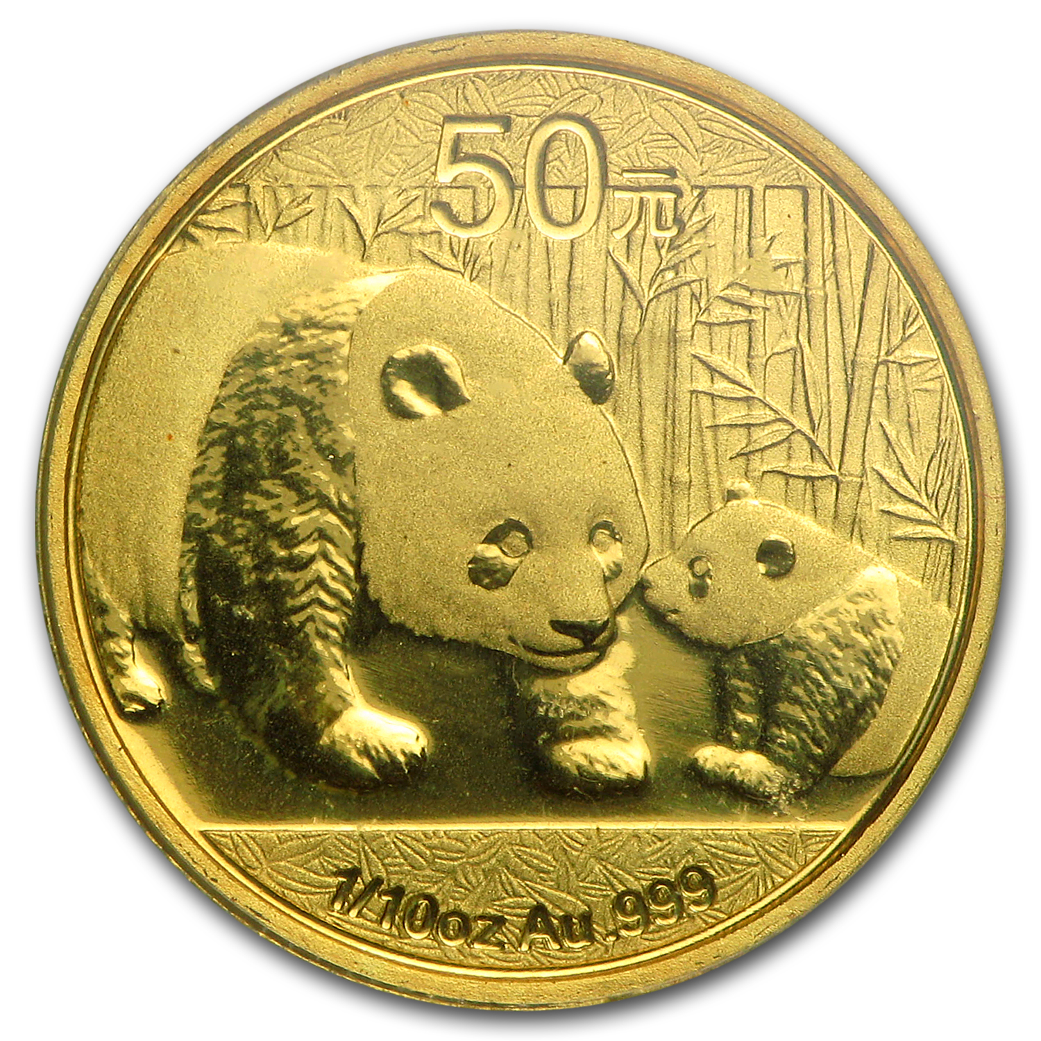 2011 (1/10 oz) Gold Chinese Panda - MS-70 PCGS First Strike