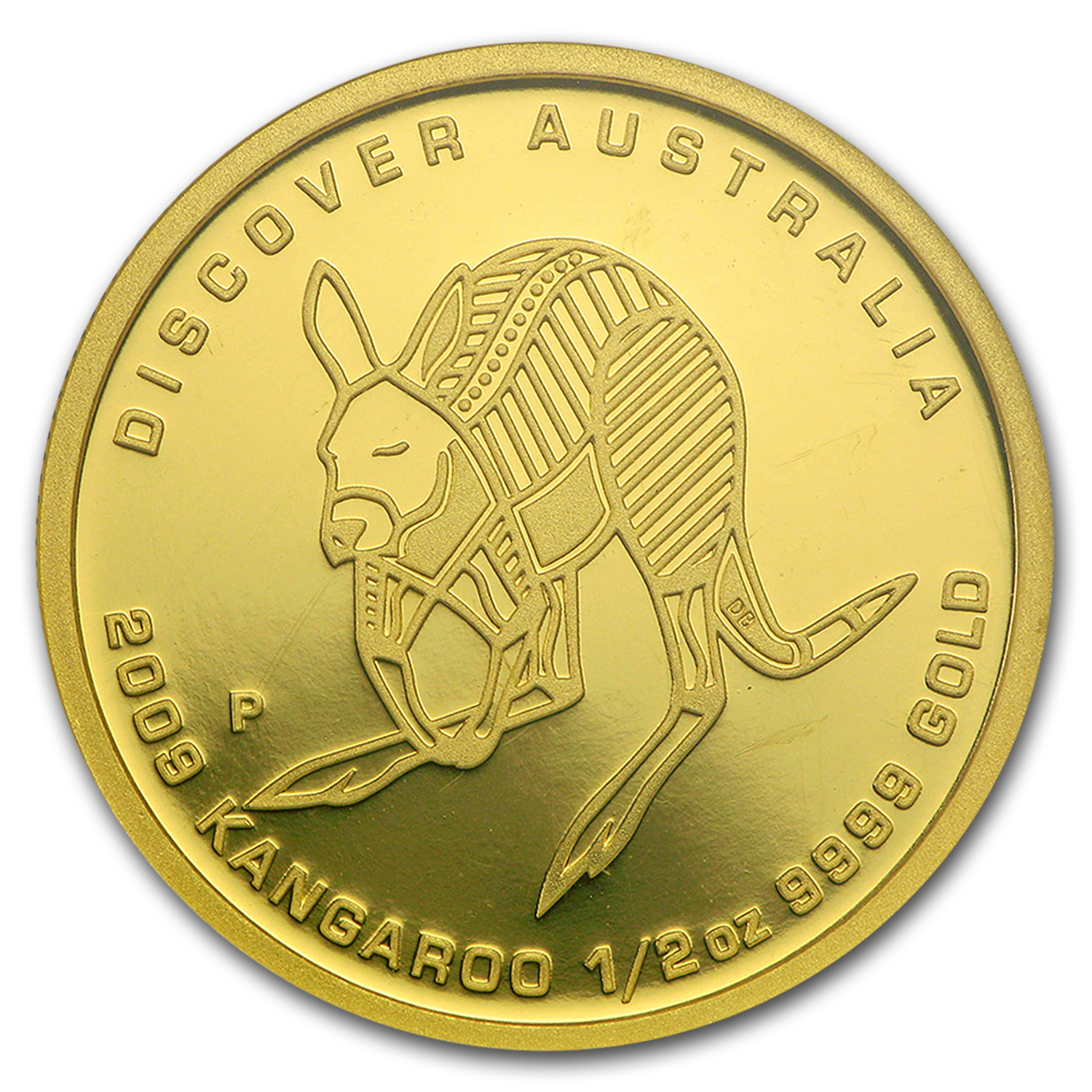 2009 1/2 oz Gold Kangaroo Discover Australia Gem Proof NGC