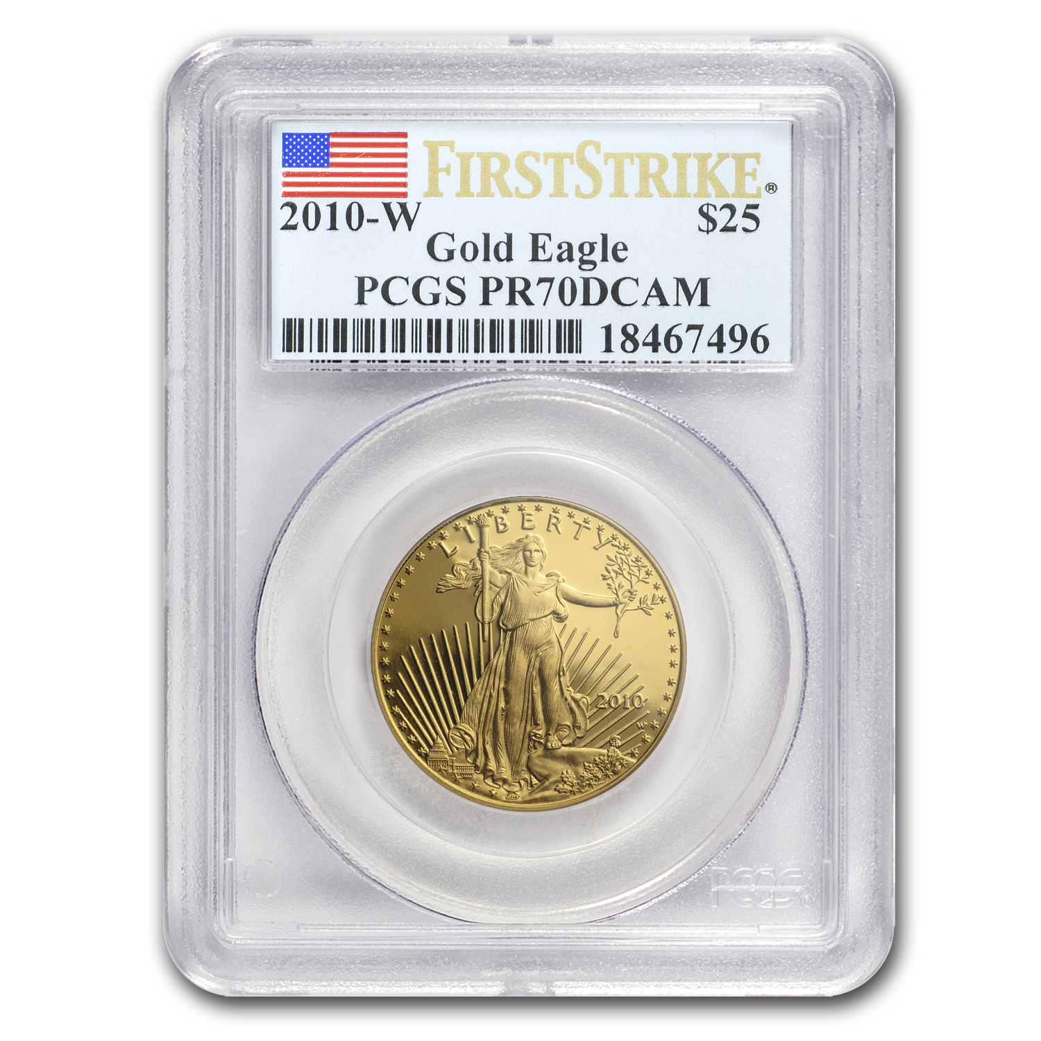 2010-W 1/2 oz Proof Gold American Eagle PR-70 PCGS (FS)