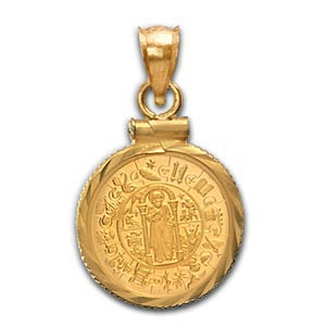 2009 1/25 oz Gold Paulus Thaler Pendant (Diamond-Screw Top Bezel)