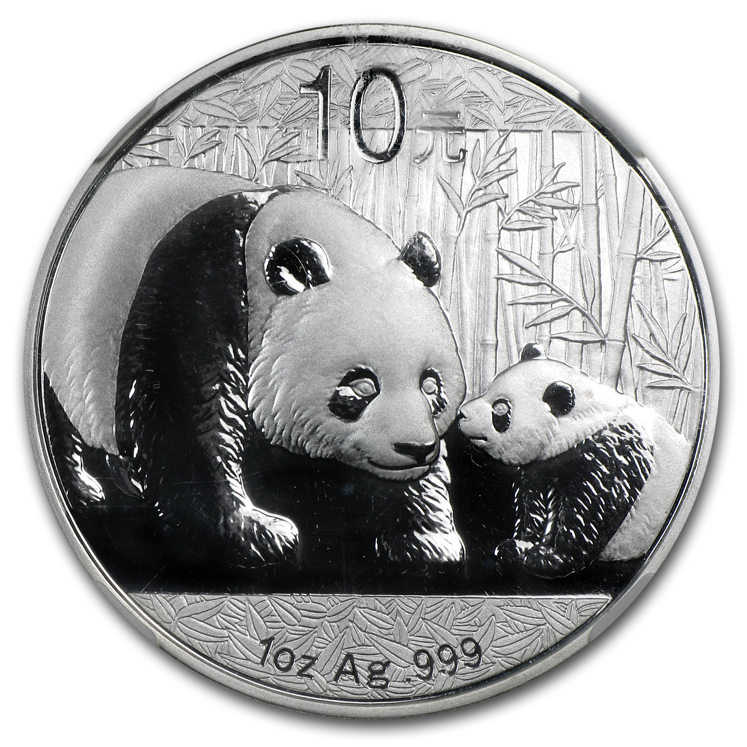 2011 China 1 oz Silver Panda MS-69 NGC