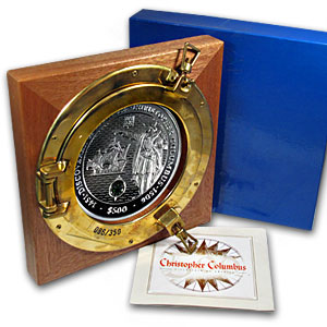 2006 British Virgin Islands 5 kilo Silver $500 Columbus Proof