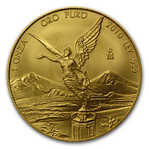 2010 1 oz Gold Mexican Libertad MS-70 PCGS