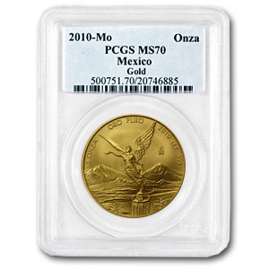 2010 Mexico 1 oz Gold Libertad MS-70 PCGS