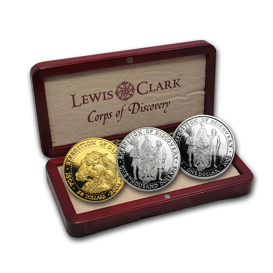 2004 3-Metals Shawnee Tribe Lewis & Clark Expedition Proof Set