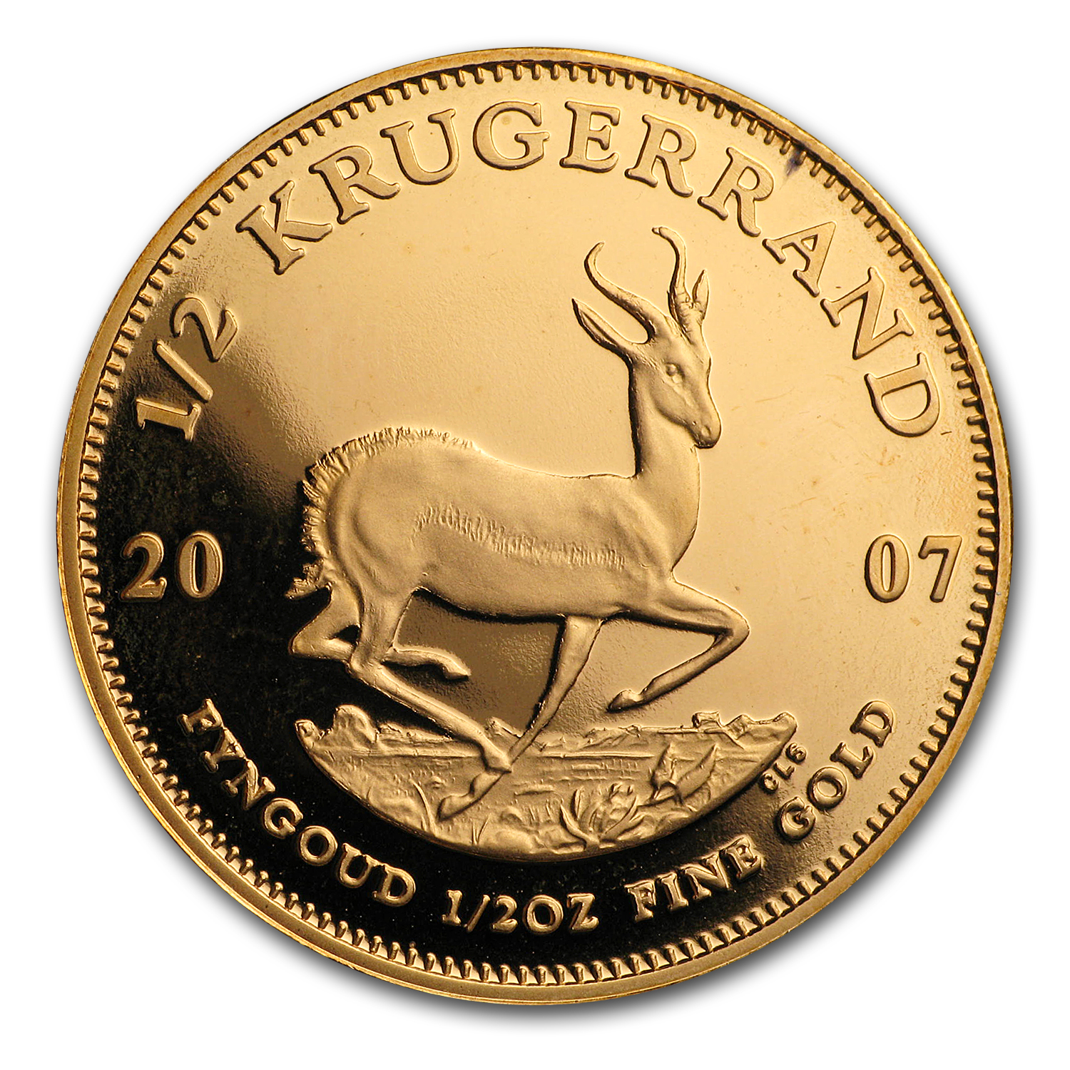 2007 South Africa 1/2 oz Proof Gold Krugerrand