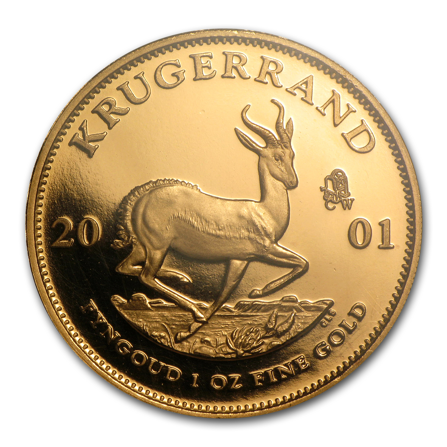 2001 1 oz Gold South African Krugerrand PF-68 NGC (CW Privy)