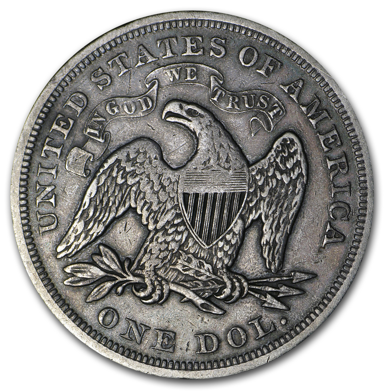1869 Liberty Seated Dollar VF