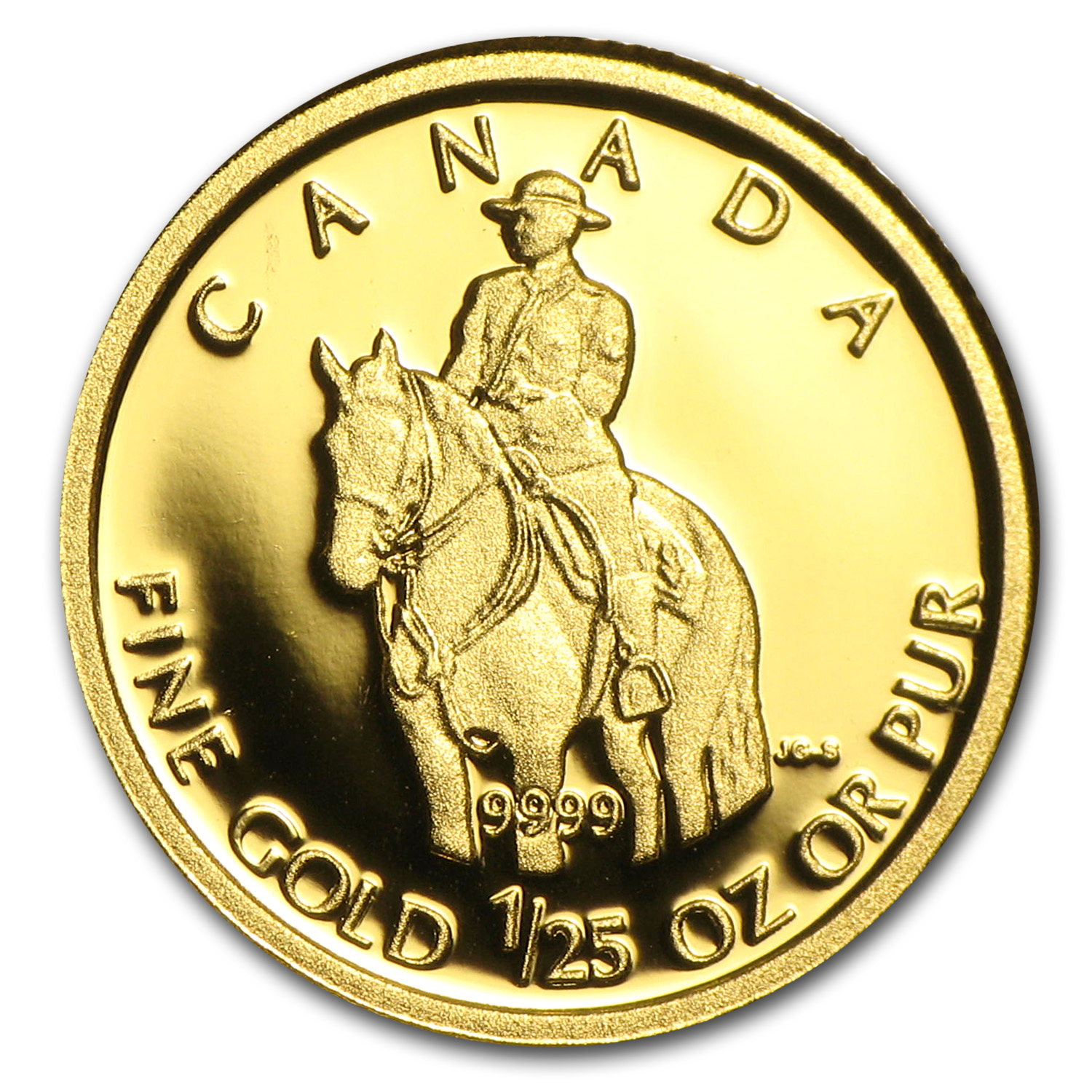 2010 Canada 1/25 oz Proof Gold $0.50 RCM Police