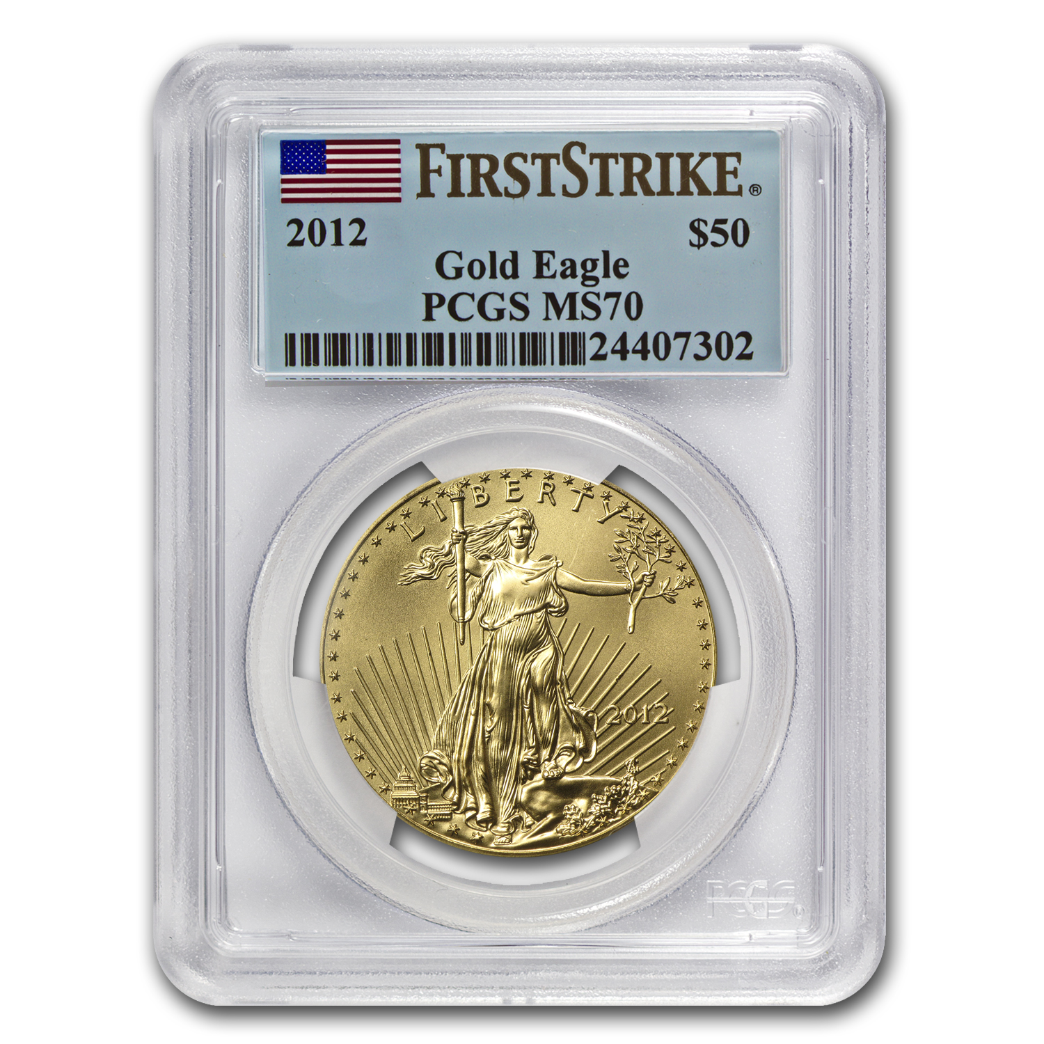 2012 1 oz Gold American Eagle MS-70 PCGS (FS)