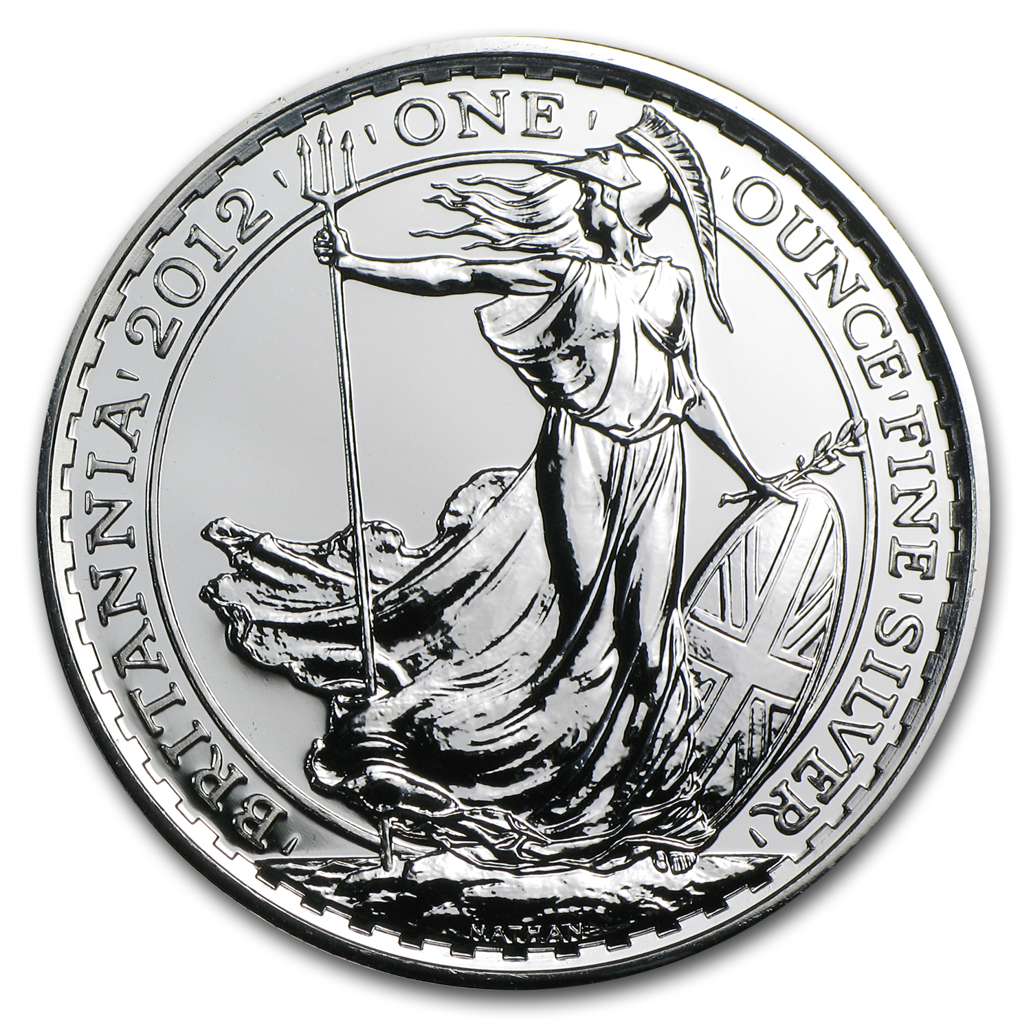 2012 Great Britain 1 oz Silver Britannia BU