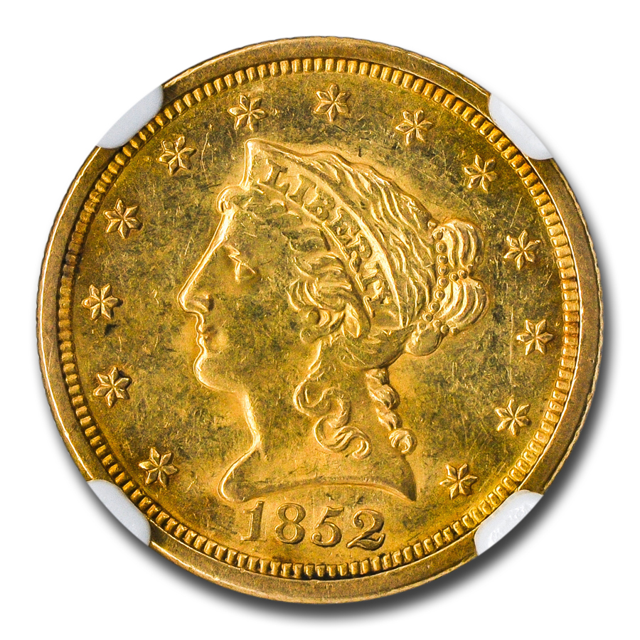 1852-O $2.50 Liberty Gold Quarter Eagle MS-61 NGC