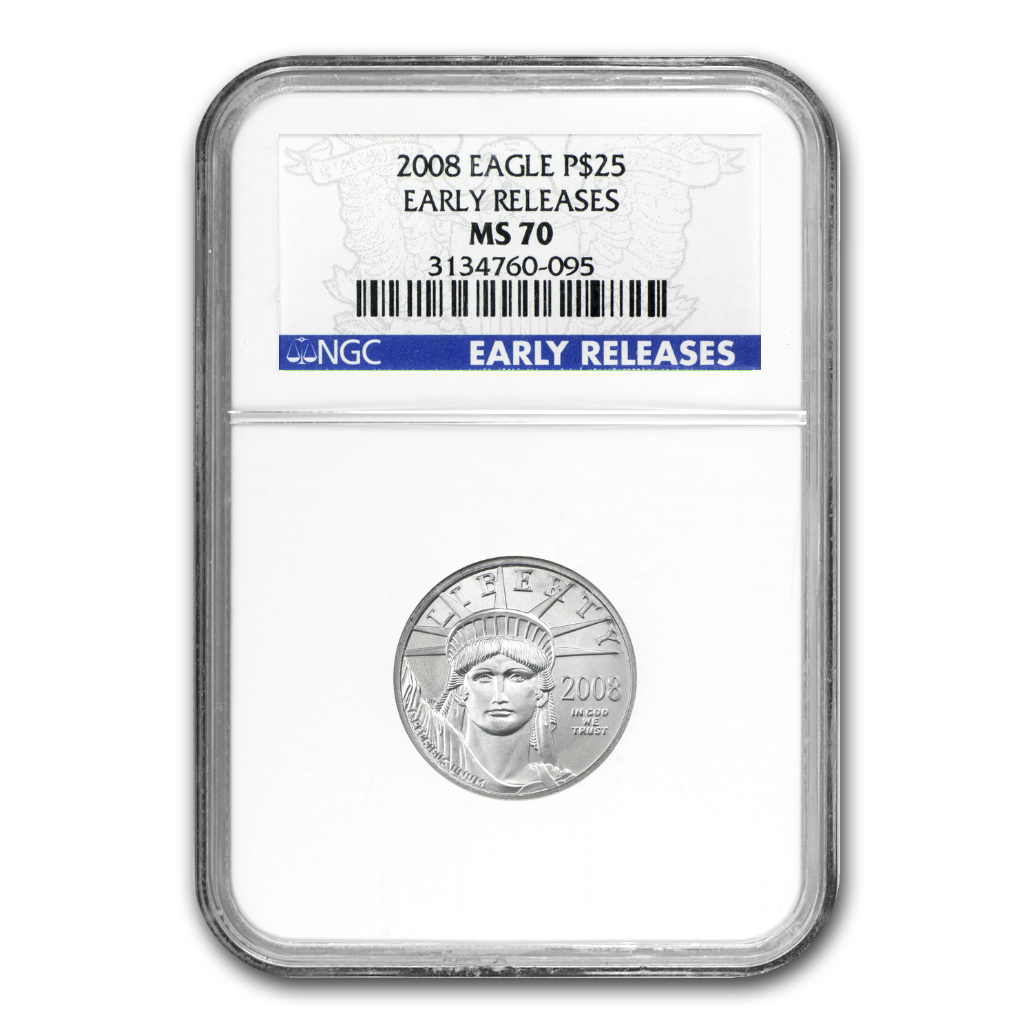2008 1/4 oz Platinum American Eagle MS-70 NGC (ER)