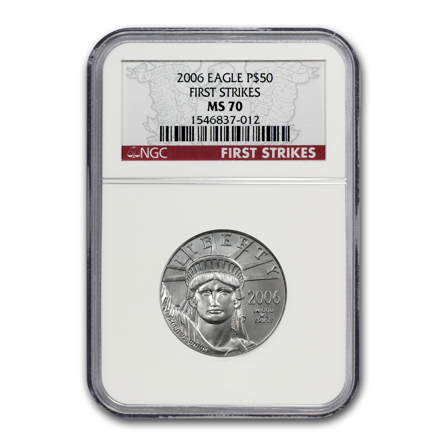 2006 1/2 oz Platinum American Eagle MS-70 NGC (First Strikes)