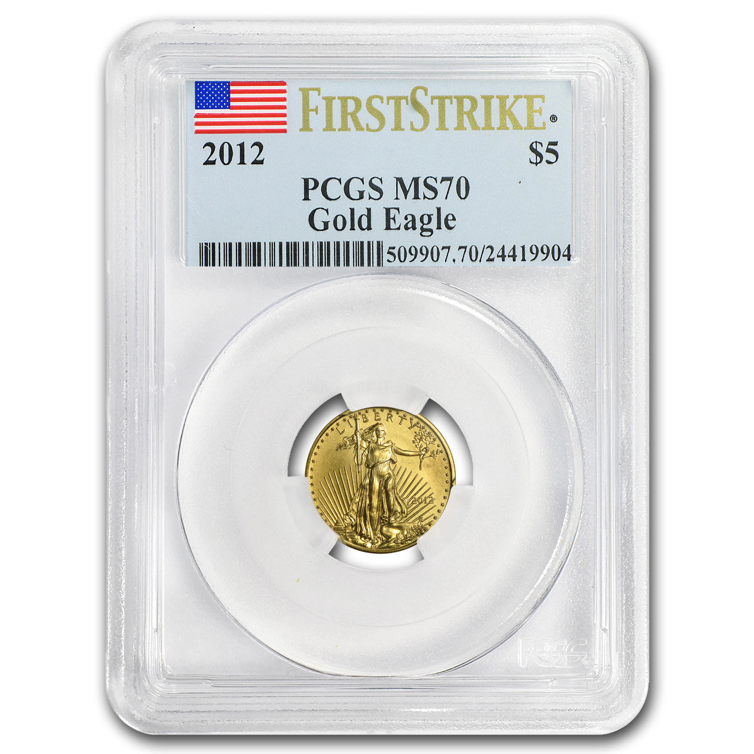 2012 1/10 oz Gold American Eagle MS-70 PCGS (FS)