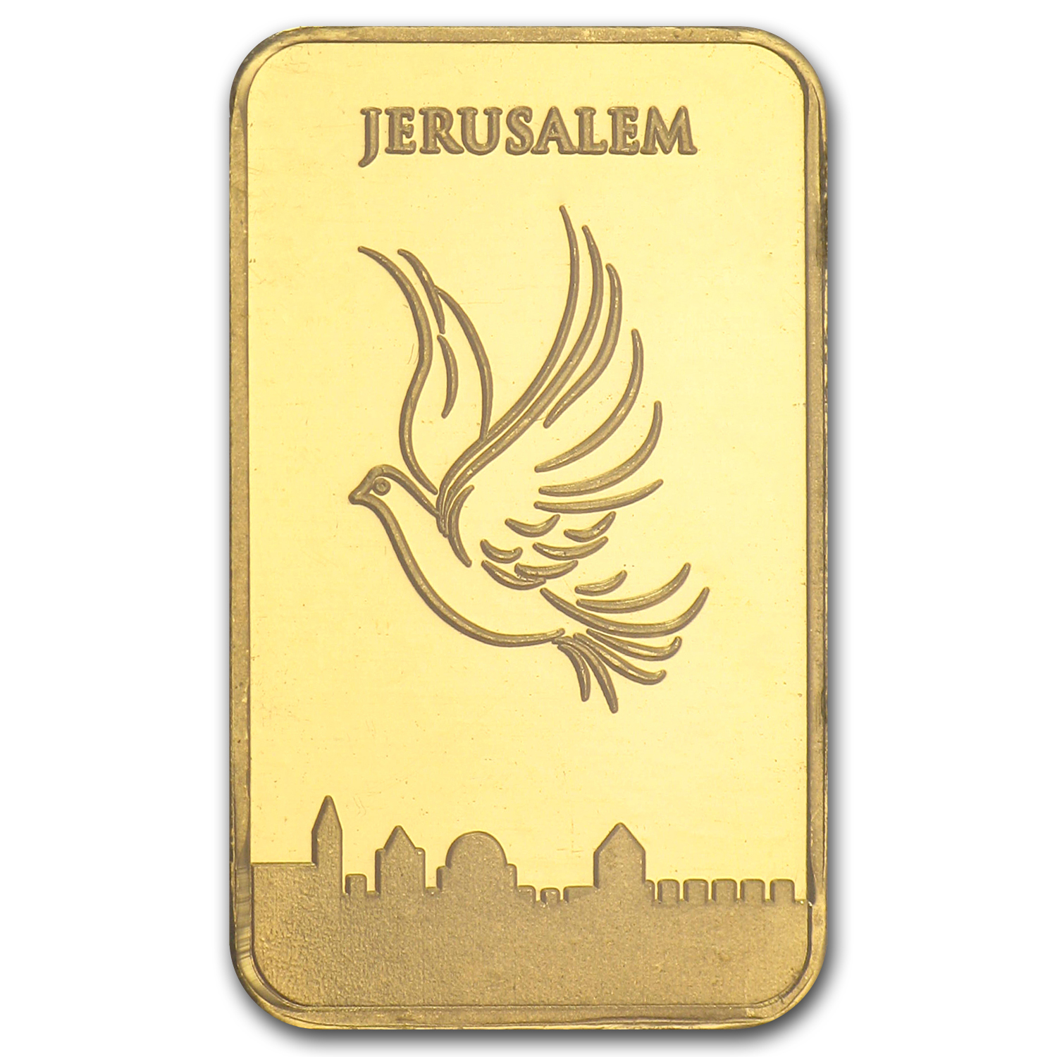 2.5 gram Holy Land Mint Dove of Peace Gold Bar(In Assay)