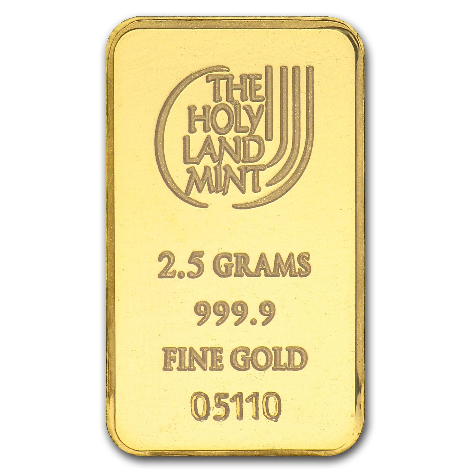 2.5 gram Gold Bar Holy Land Mint Dove of Peace (In Assay)