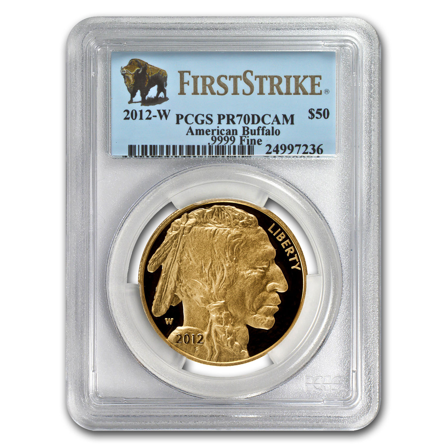 2012-W 1 oz Proof Gold Buffalo PR-70 PCGS (First Strike)