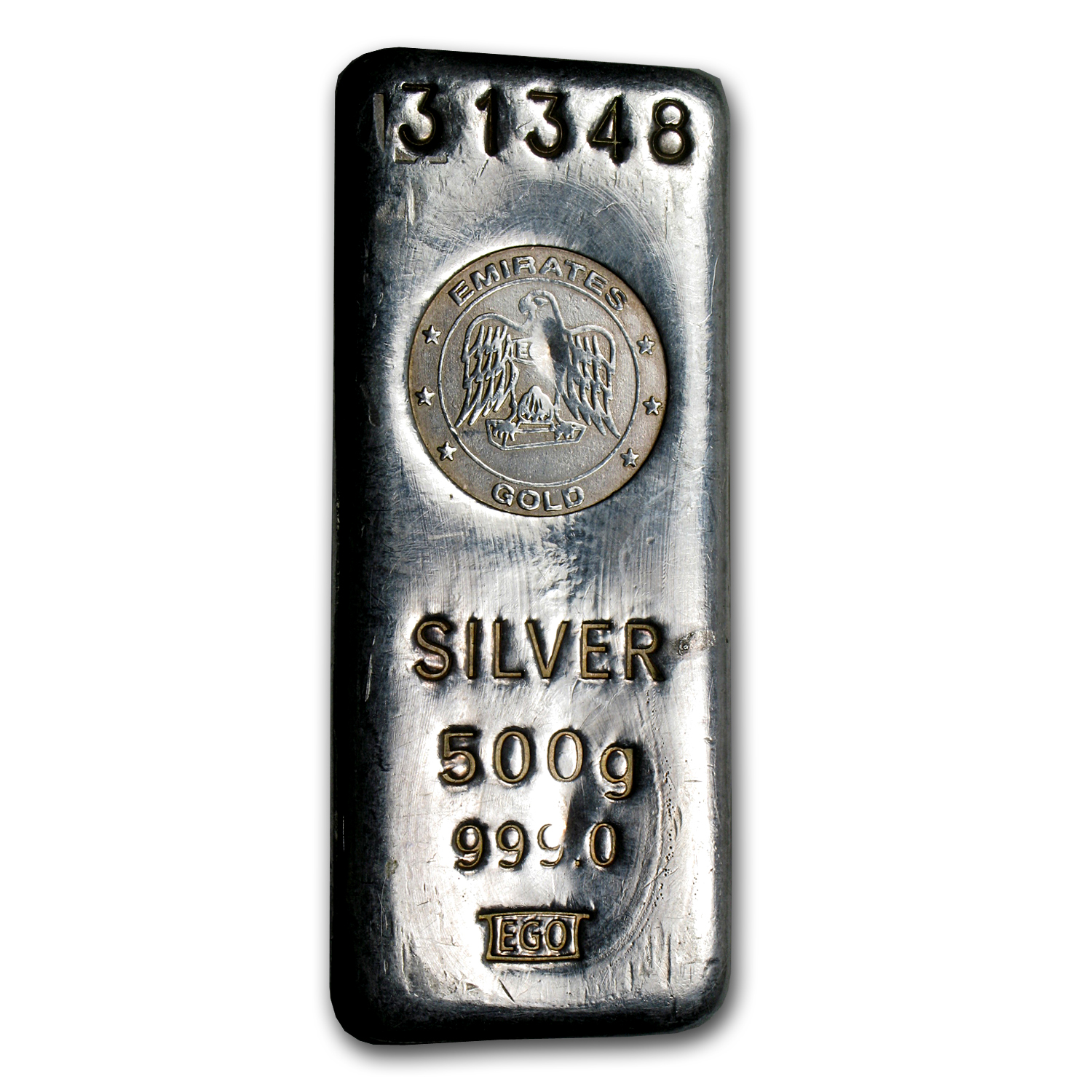500 gram Silver Bar - Emirates Gold