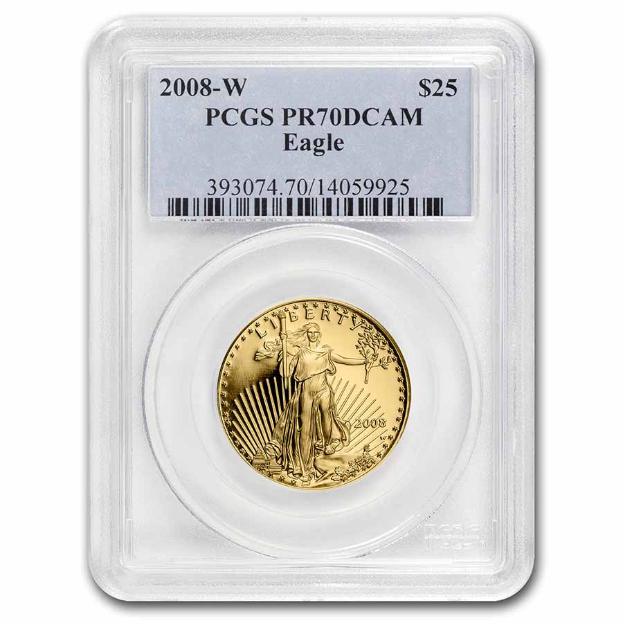 2008-W 1/2 oz Proof Gold American Eagle PR-70 DCAM PCGS