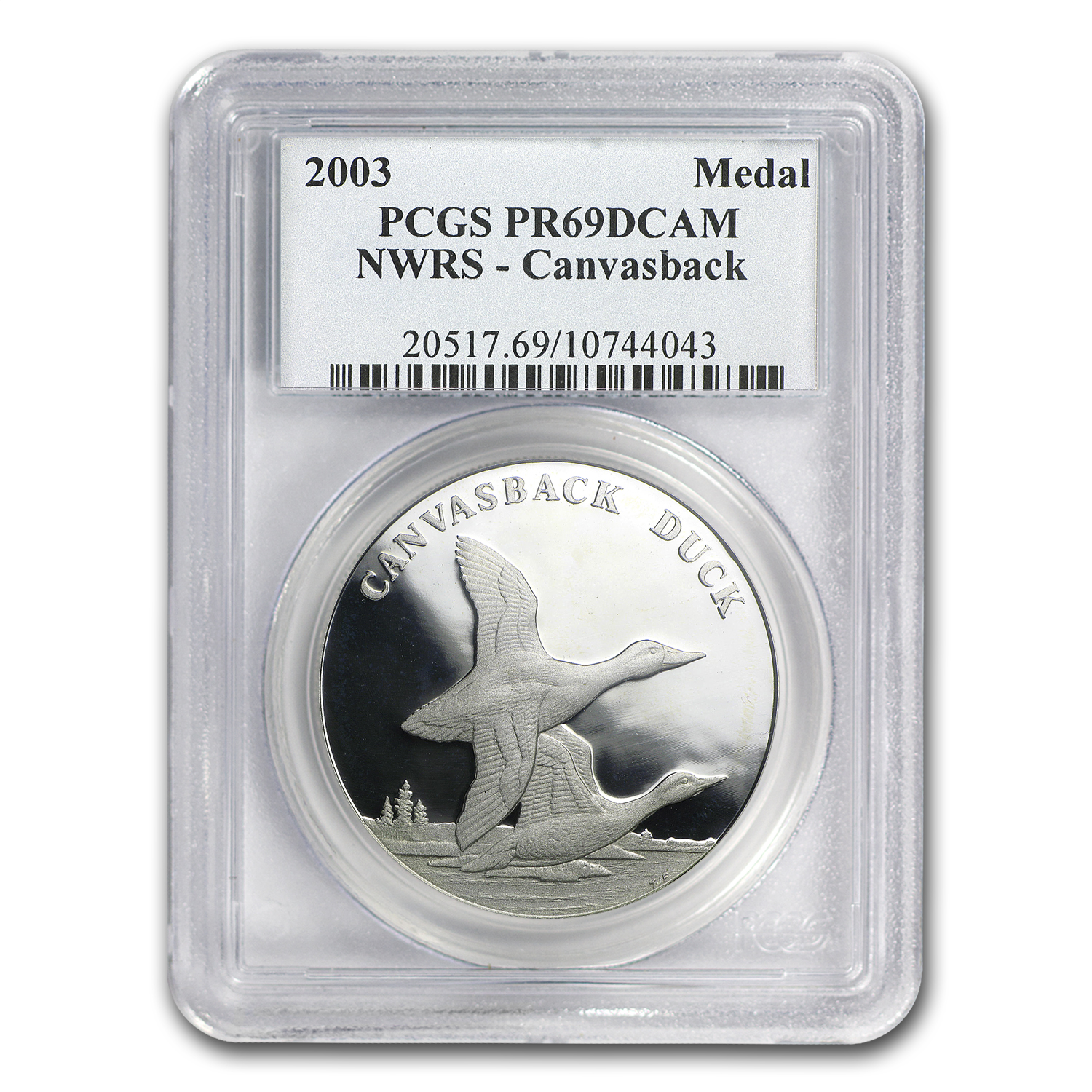 2003 Wildlife Refuge Canvasback $1 Silver Commem PR-69 DCAM PCGS