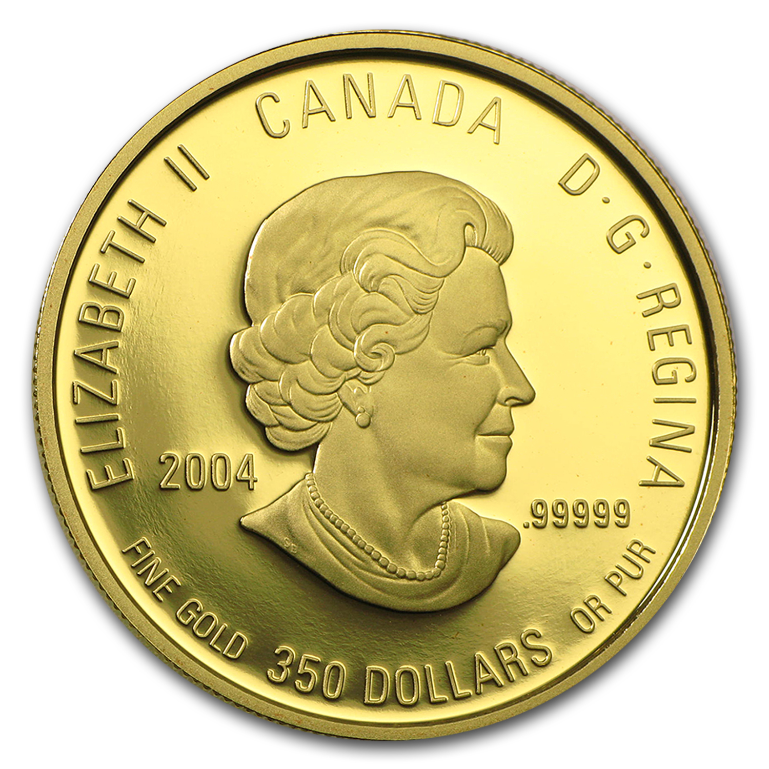 2004 1.12 oz Gold Canadian $350 Fireweed Proof (W/Box & COA)