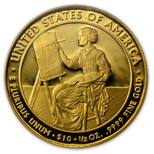 2011-W 1/2 oz Proof Gold Lucretia Garfield PR-69 PCGS (FS)