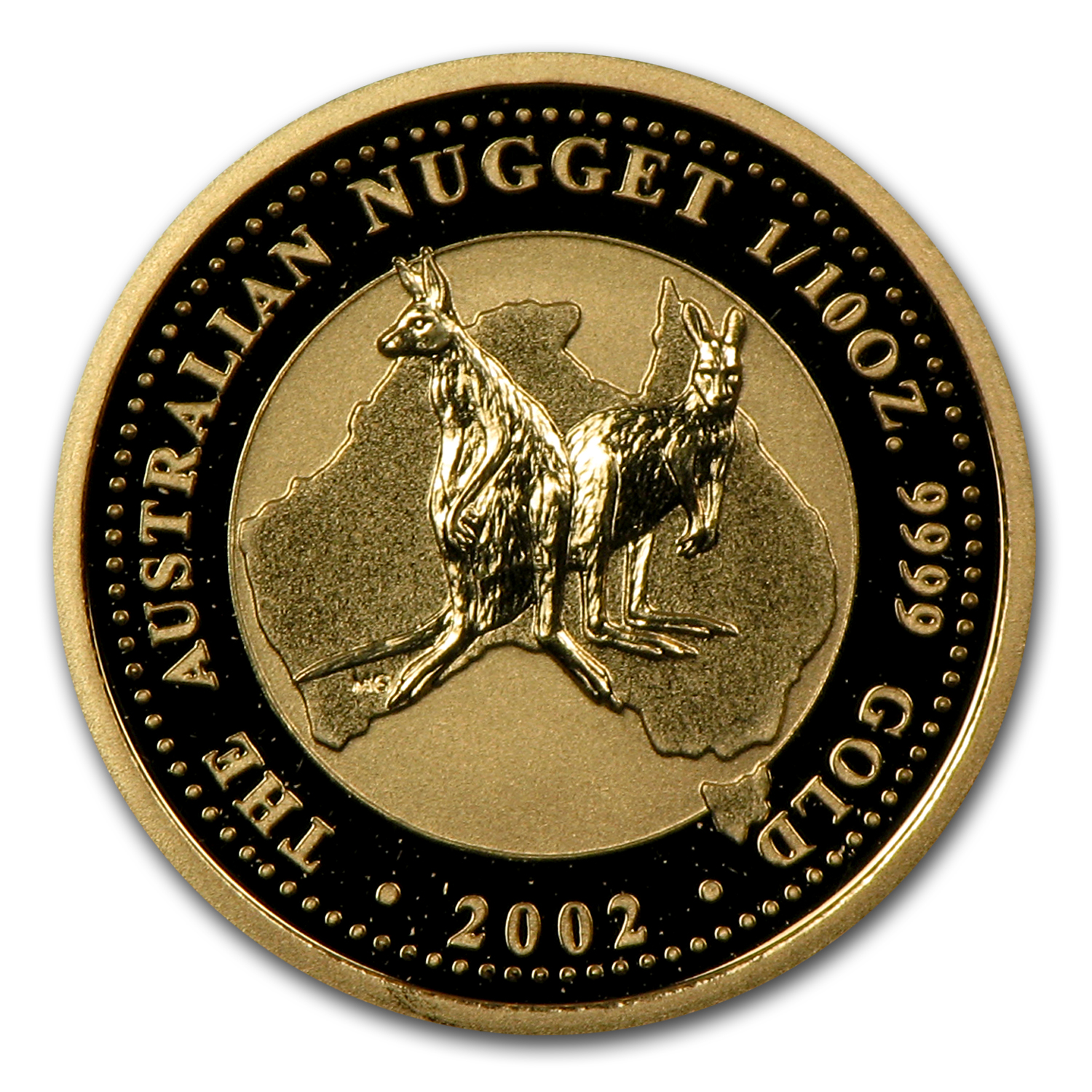 2002 Australia 1/10 oz Gold Nugget