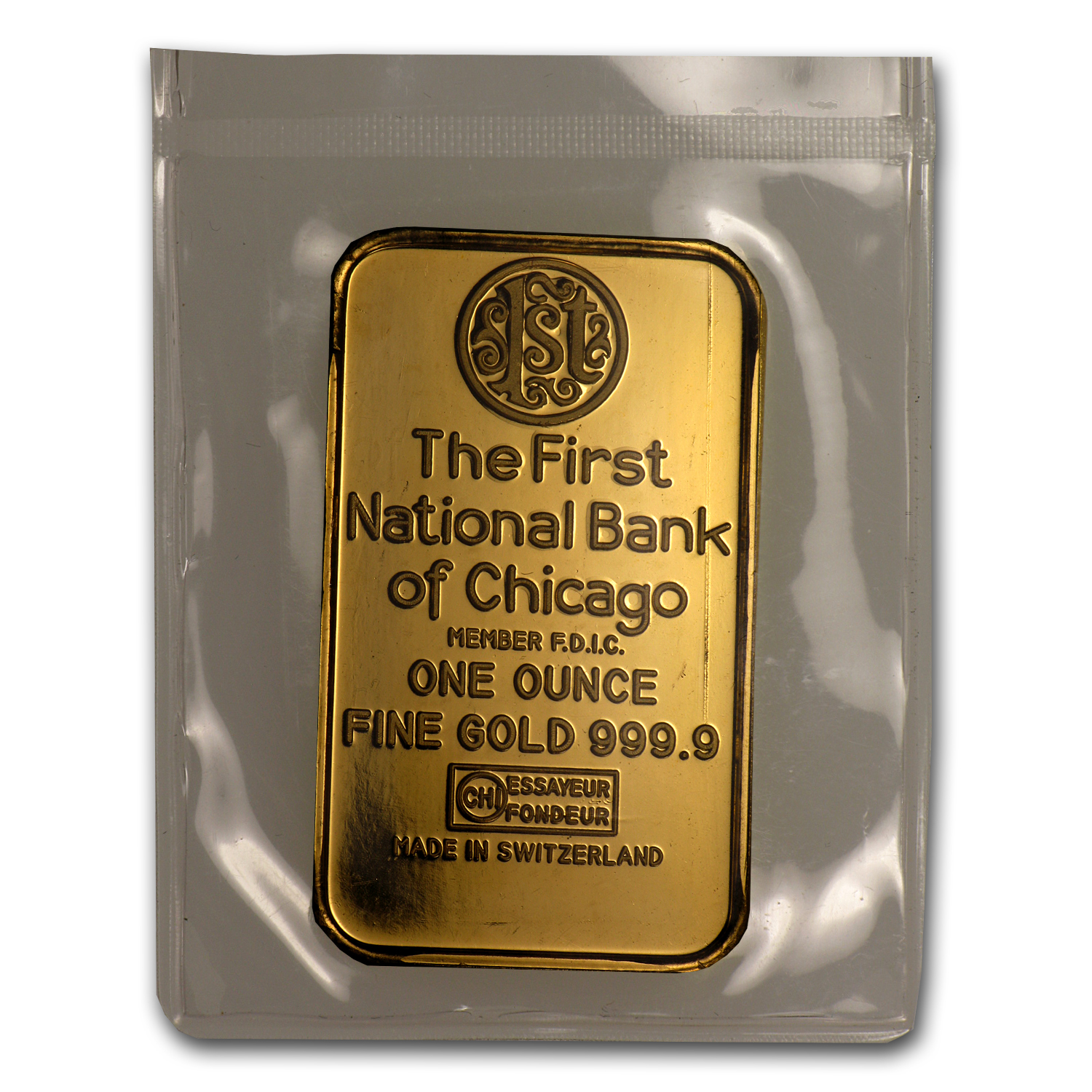 1 Oz Gold Bar First National Bank Of Chicago All Other