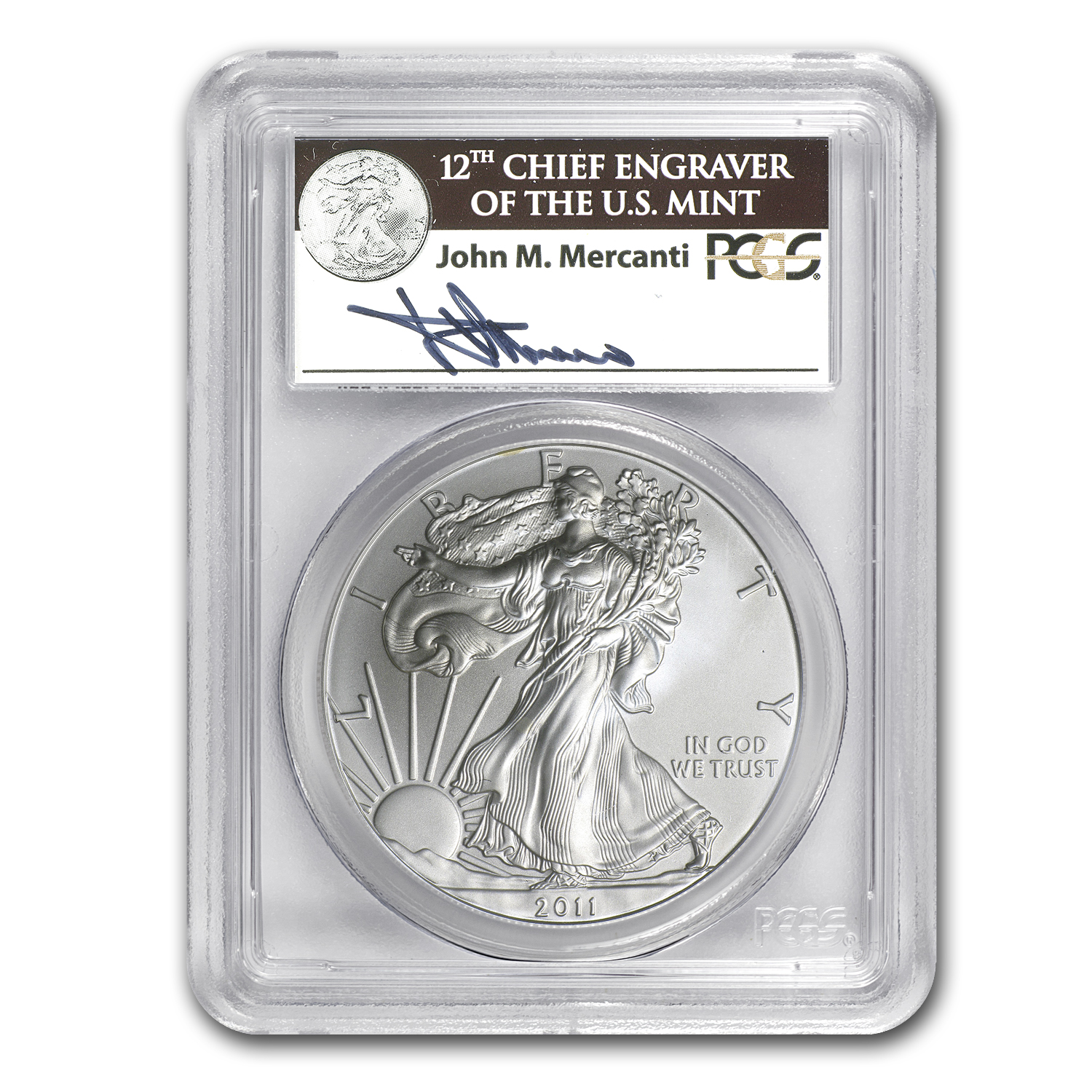 2011 5-Coin Silver Eagle Set MS/PR-69 PCGS (FS, 25th, Mercanti)