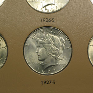 1921-1935 Peace Dollar 23-Coin Set BU (Dansco Album)