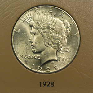 Peace Dollar 23-Coin Set BU (Dansco Album)