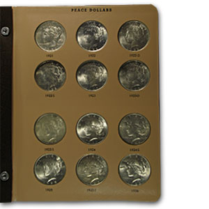 Peace Dollar Set (In Dansco Album) - 23 Coins (BU)