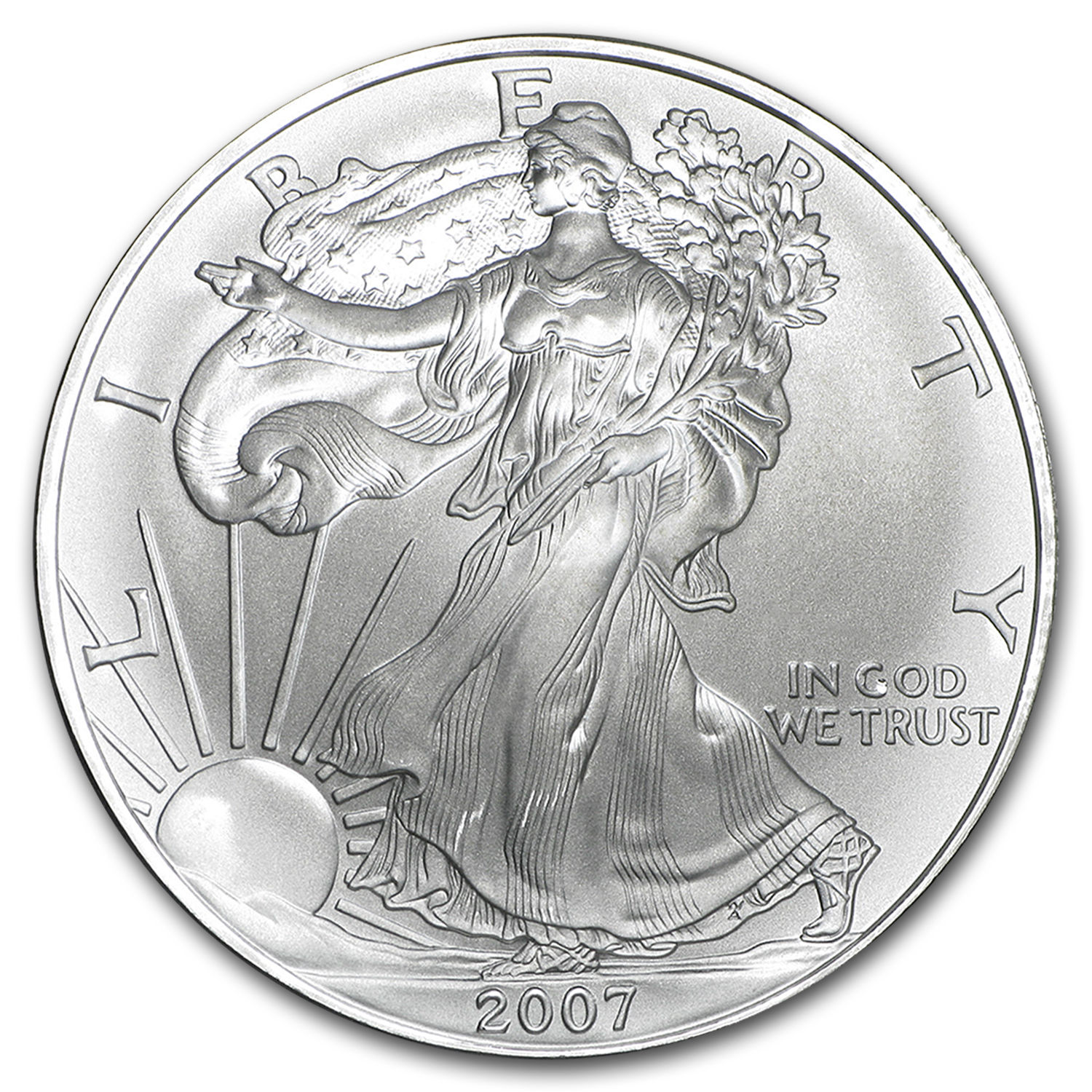 2007 1 oz Silver American Eagles (20-Coin MintDirect® Tube)