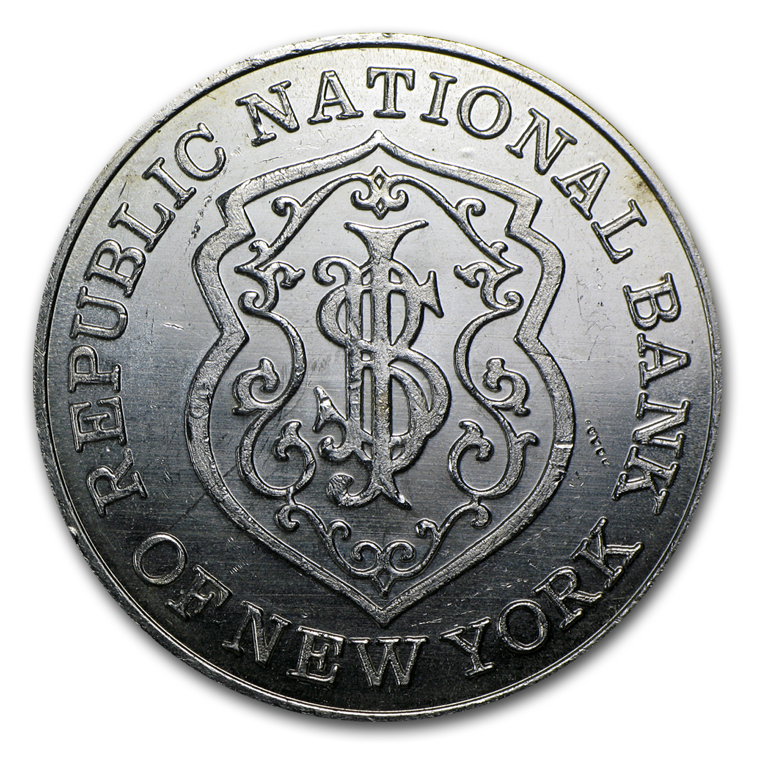 1 oz Silver Round - Republic National Bank of New York