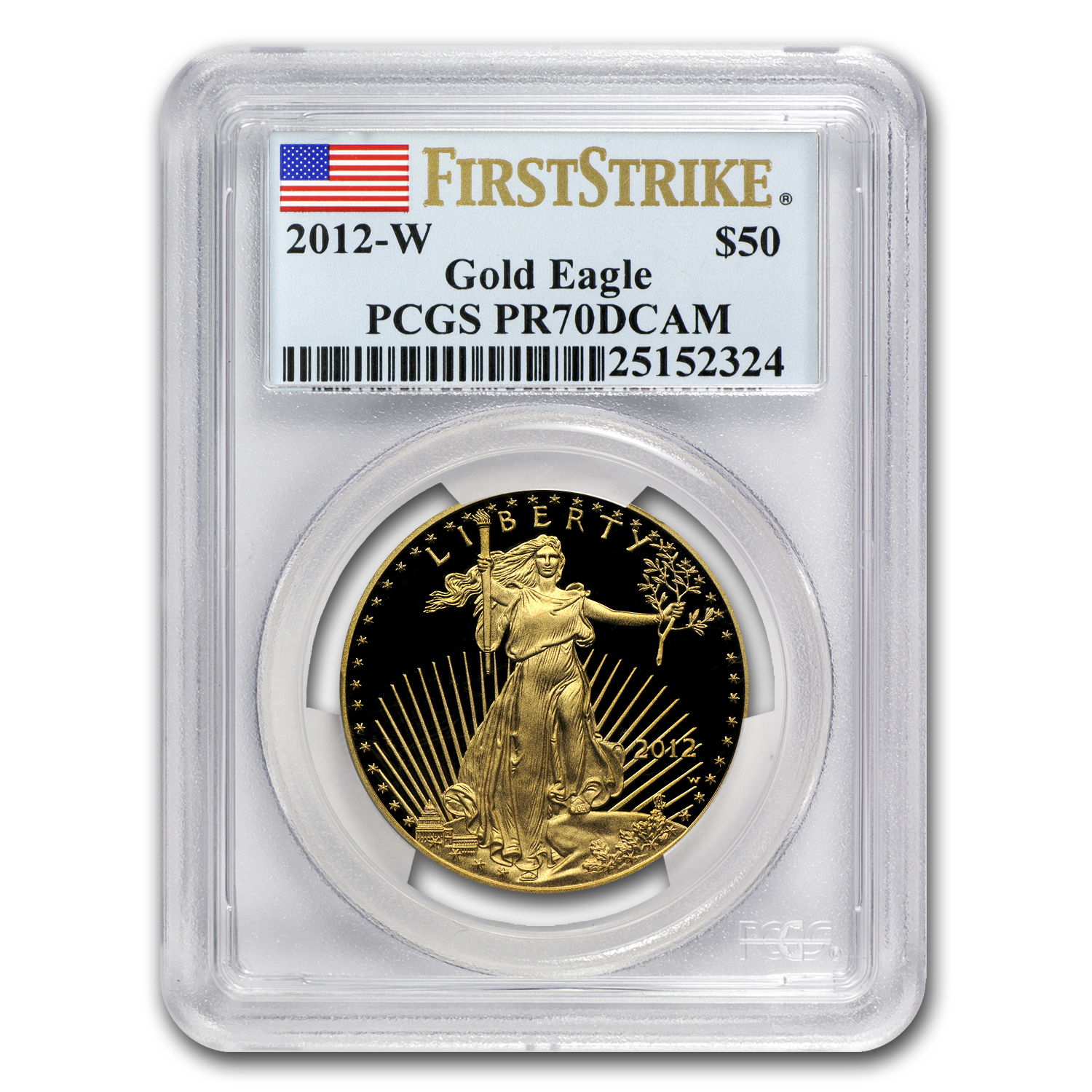 2012-W 1 oz Proof Gold American Eagle PR-70 PCGS (FS)
