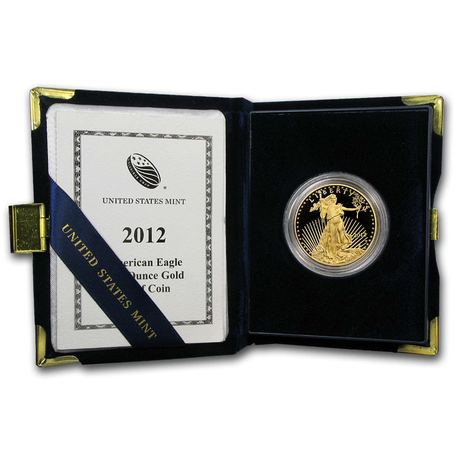 2012-W 1 oz Proof Gold American Eagle (w/Box & COA)