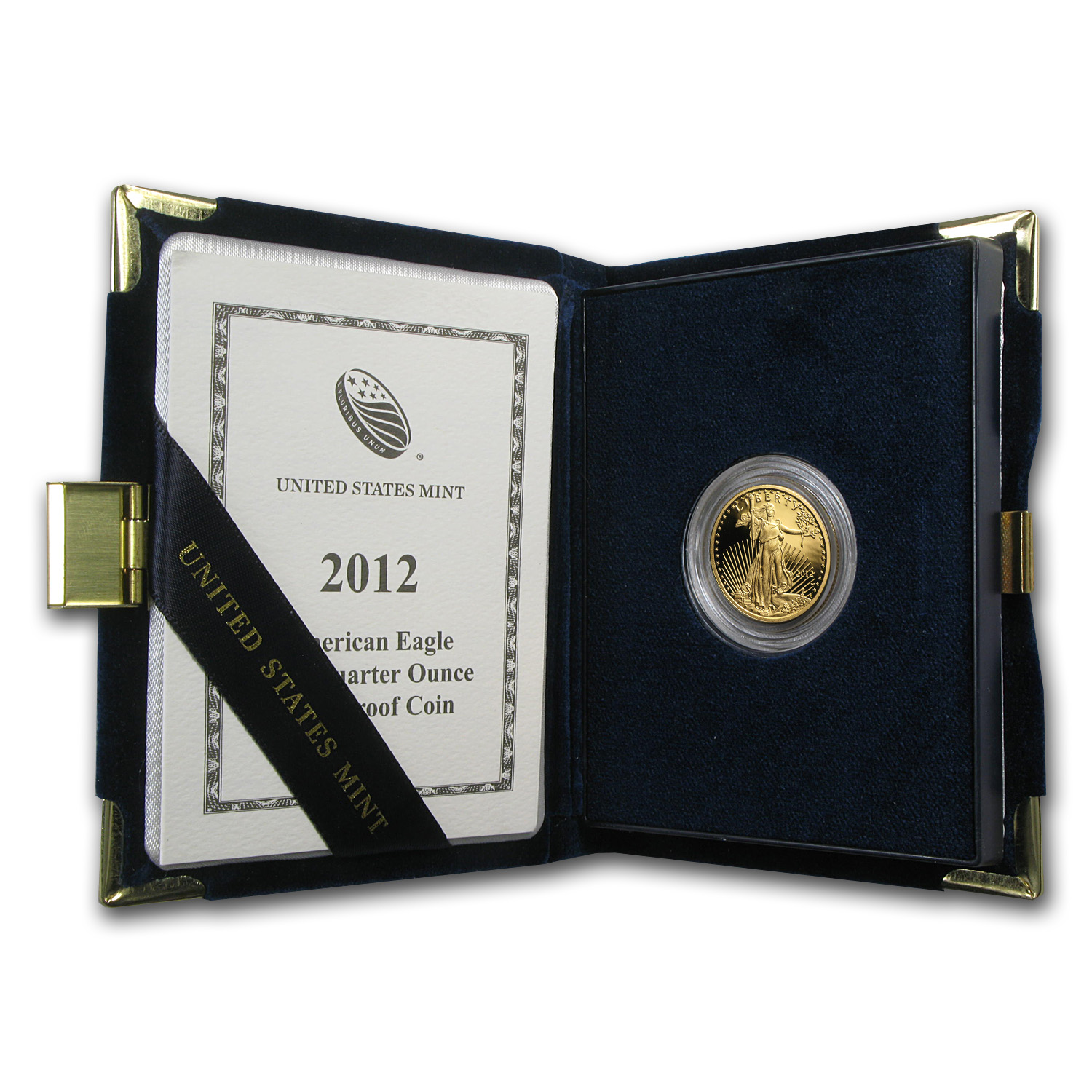 2012-W 1/4 oz Proof Gold American Eagle (w/Box & COA)