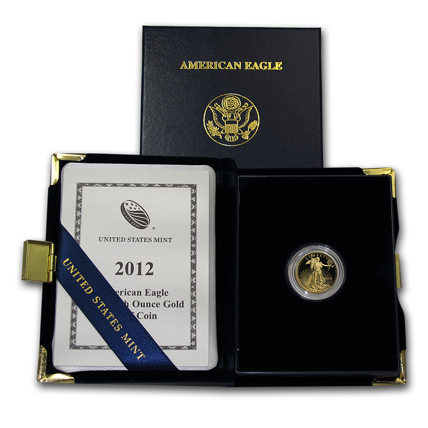 2012-W 1/10 oz Proof Gold American Eagle (w/Box & COA)