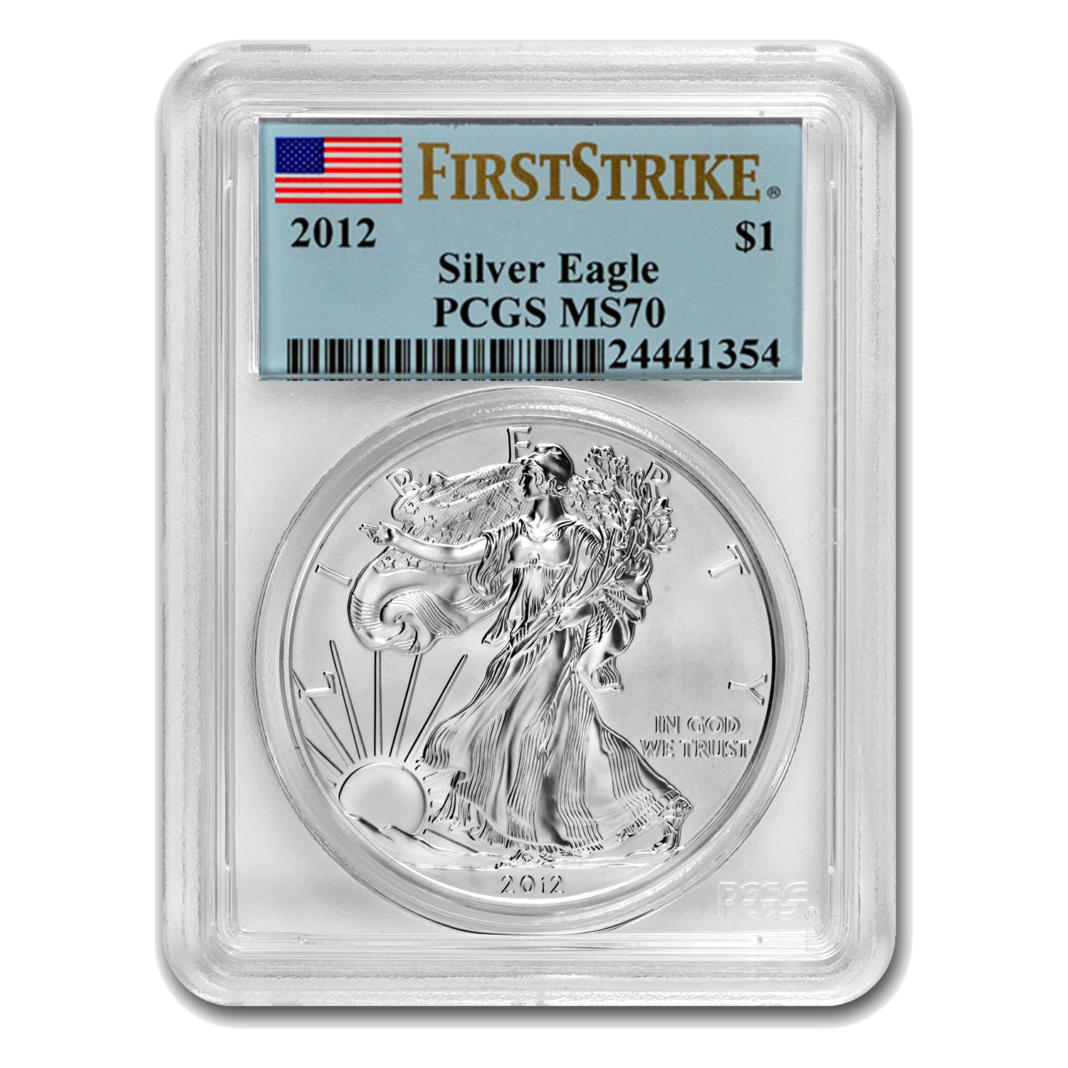 2012 Silver American Eagle - MS-70 PCGS - First Strike