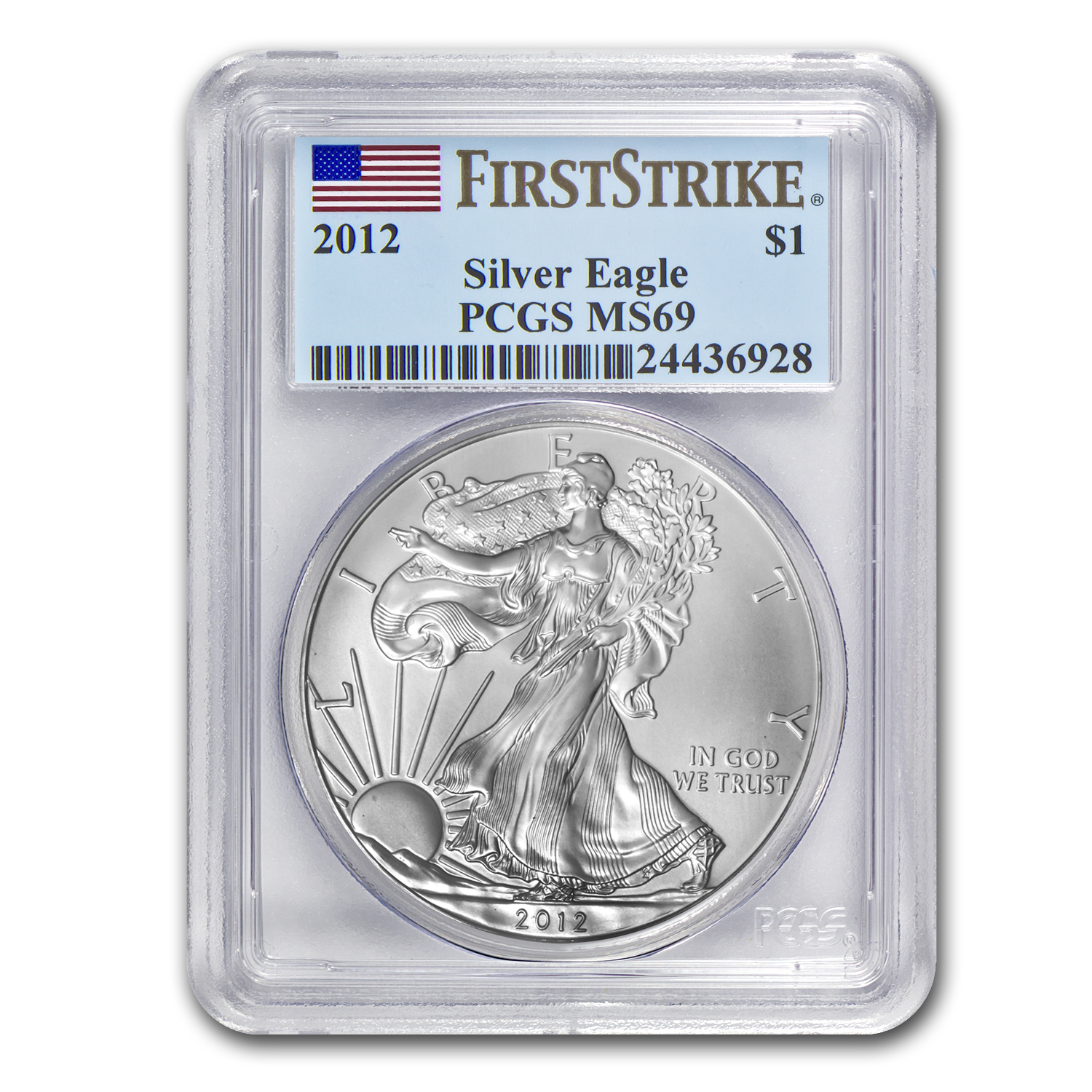 2012 Silver American Eagle MS-69 PCGS (First Strike)