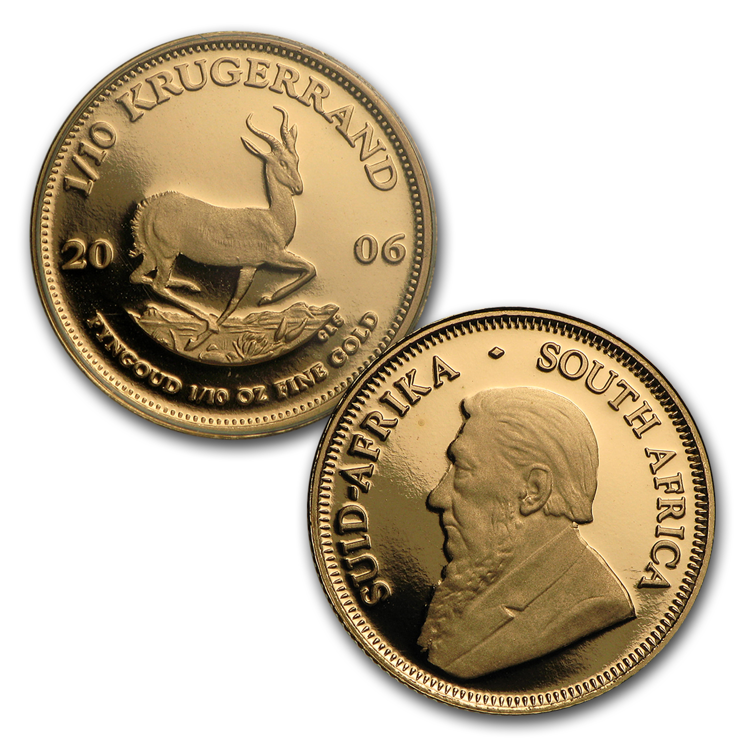 2006 South Africa 4-Coin Gold Krugerrand Proof Set