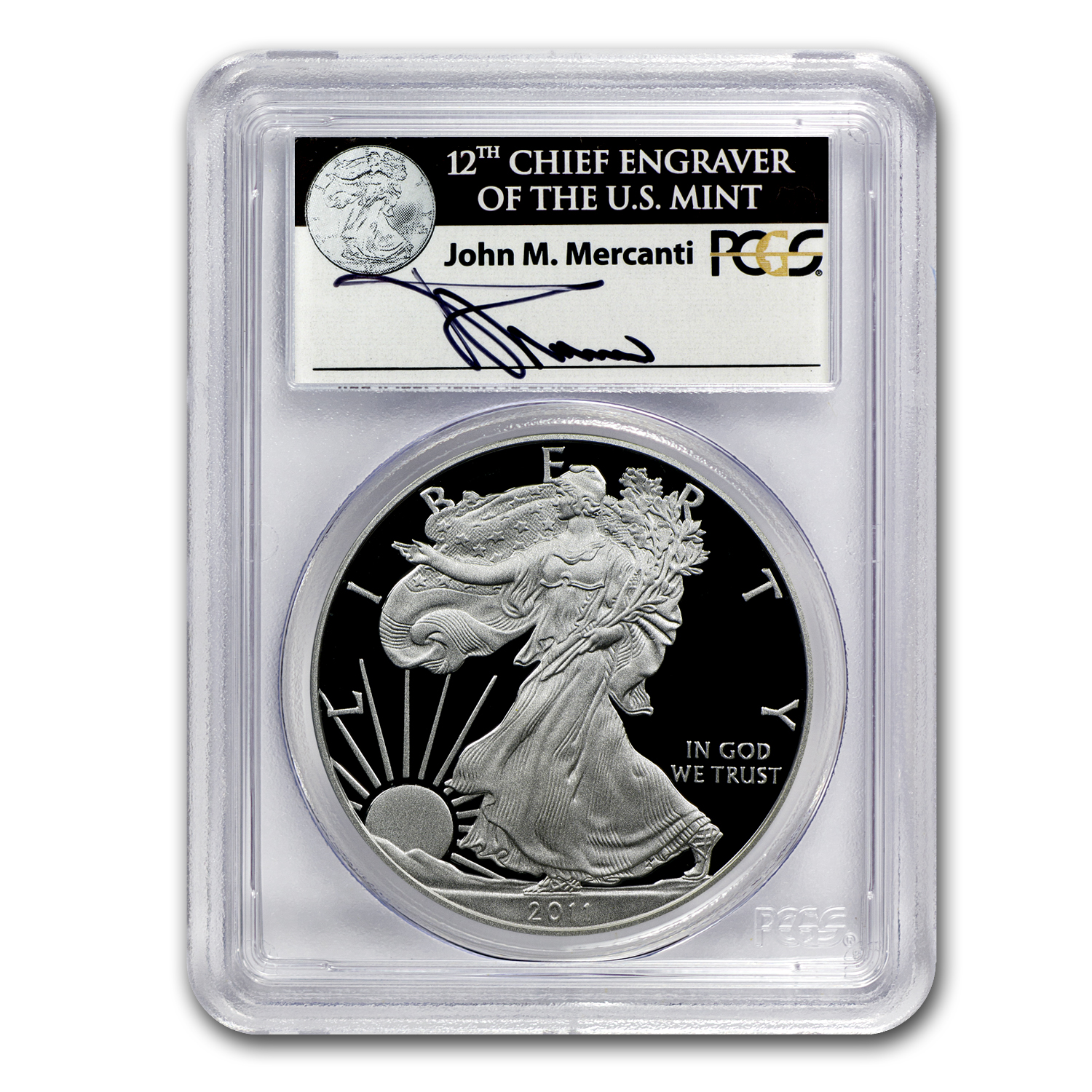 2011-W Proof Silver Eagle 25th Annv PR-69 PCGS (FS) John Mercanti