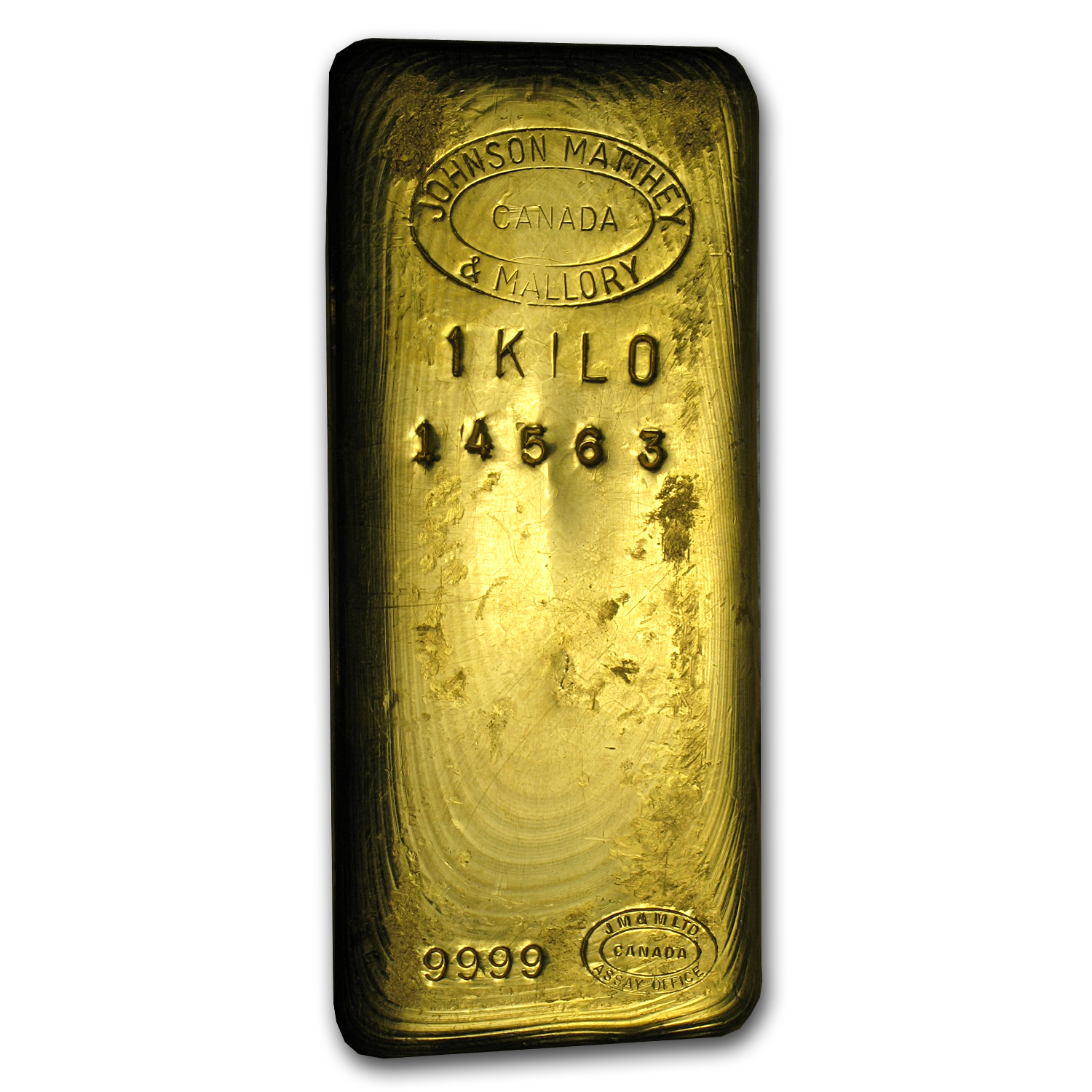 1 kilo Gold Bar - Johnson Matthey & Mallory