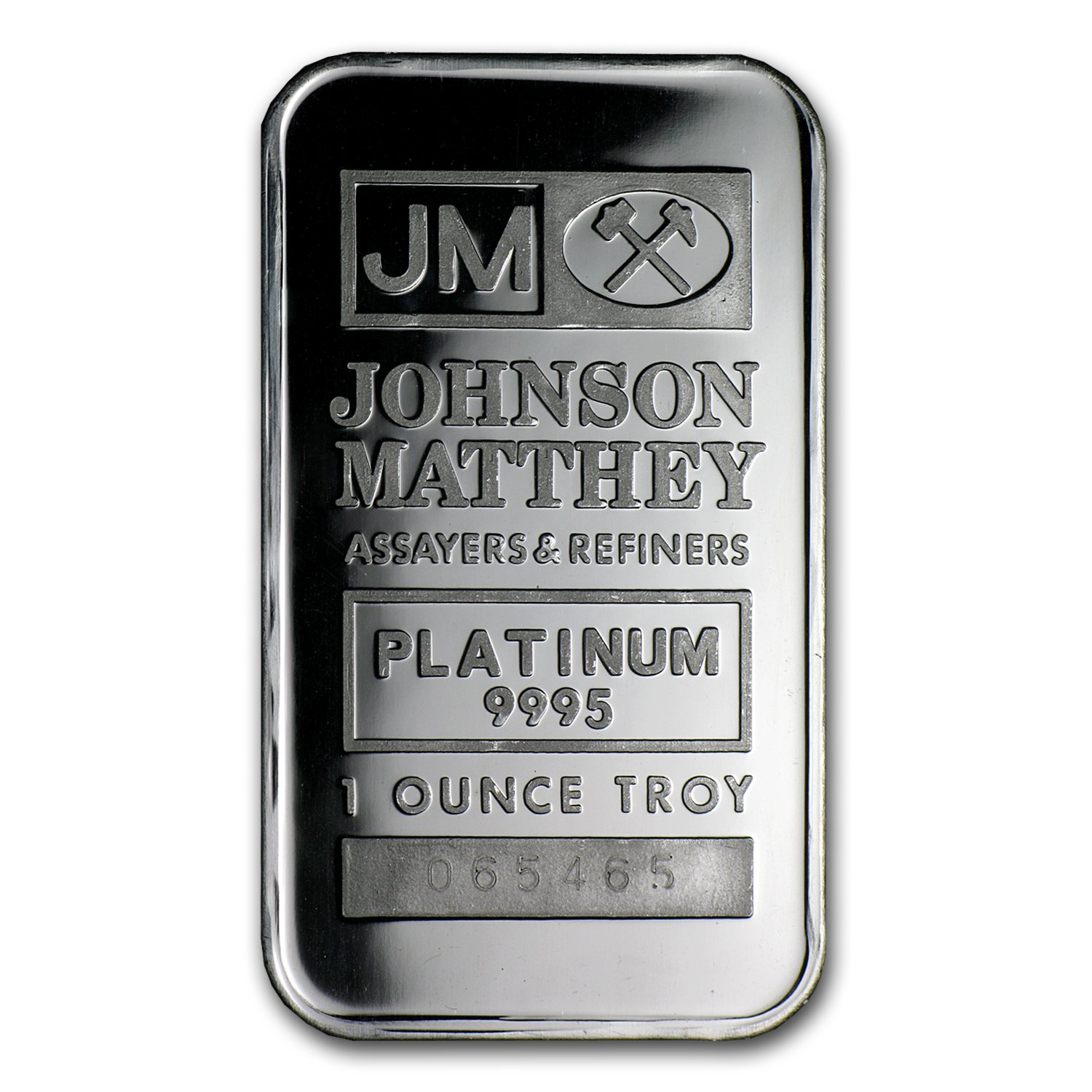 1 oz Johnson Matthey Platinum Bar .9995 Fine (No Assay)